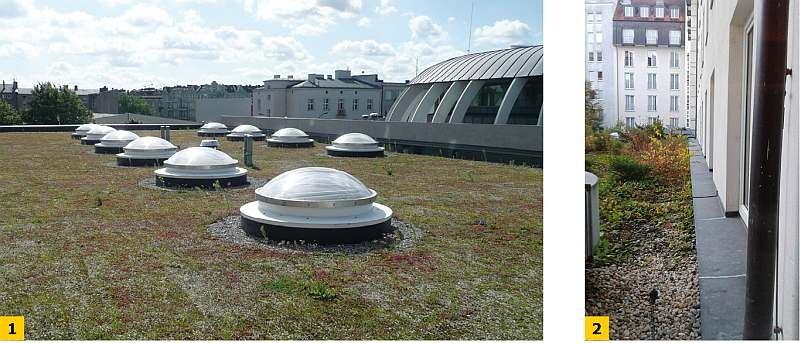 FOT. 1-2 Przykłady dachów zielonych; fot. archiwum autora