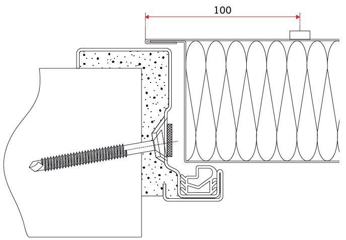 RYS. 4. Przekrój skrzydła drzwiowego i ościeżnicy drzwi przeciwpożarowych; rys.: [7]