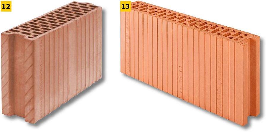 FOT. 12-13. Przykładowe pustaki do ścian działowych; fot.: Leier (12) i Heluz (13)