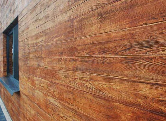 Tynk dekoracyjny imitujący elewację drewnianą; fot.: Atlas