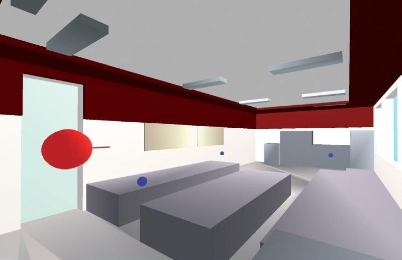 FOT. 2. Typowa klasa szkolna jako model obliczeniowy w programie Odeon; fot.: A. K. Kłosak