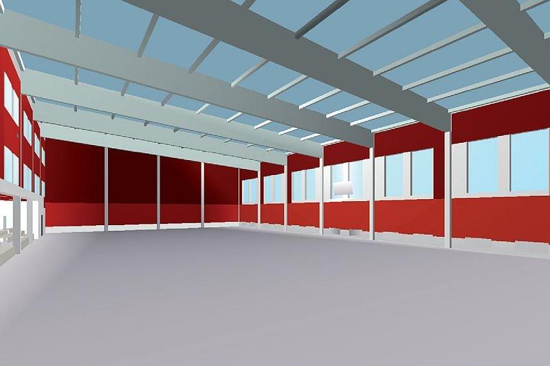 FOT. 8. Sala gimnastyczna jako model obliczeniowy w programie Odeon; fot.: A. K. Kłosak