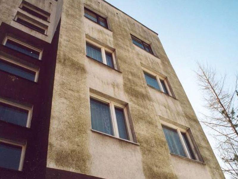FOT. 6. Pionowe pasma na elewacji budynku wzdłuż linii okien; fot.: archiwum autora