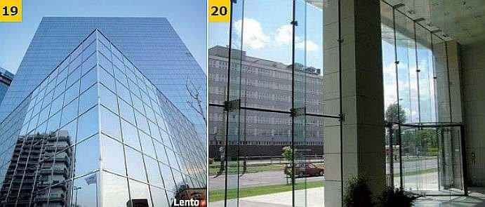 FOT. 19-20. Przykłady rozwiązań konstrukcyjnych ścian z oszkleniem strukturalnym; fot. Alu-Max, Jelen