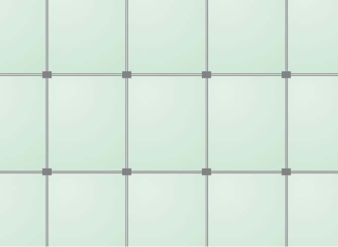 RYS. 9. Ściana membranowa: widok ściany membranowej od strony konstrukcji. Rys. Glass handbook