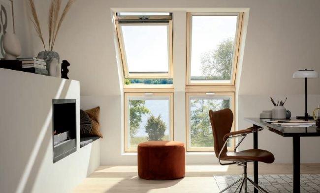 FOT. 4. Okna można montować samodzielnie oraz w zestawach obok siebie w pionie lub poziomie, a także w połączeniu z oknami kolankowymi lub elementami doświetlającymi