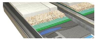 RYS. 4–6. Schematy układu obudowy: z tropikiem pełnym (4), częściowym (5) oraz jednopłaszczowej (6); 1 – płyty dachowe – tropik, 2 – obudowa zewnętrzna – tropik, 3 – system podwieszeń płyt sufitowych, 4 – sufit, 5 – ściany (4), 1 – płyty dachowe, 2 – pa.