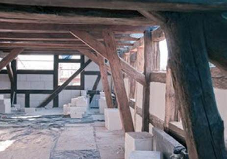 Fot. 7. Wykorzystanie bloków z betonu komórkowego do termorenowacji spichlerza w Gorzowie Wielkopolskim (mur pruski)