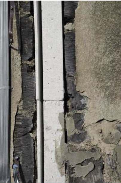 FOT. 19. Zastosowanie zróżnicowanych grubości izolacji termicznej do ocieplenia szczeliny dylatacyjnej