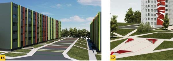 FOT. 16–17. Przykłady modernizacji budynków wielkopłytowych na osiedlu w Jastrzębiu Zdroju;