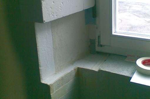 Fot. 4. Ocieplenie od strony wnętrza wykonane przy użyciu porowatych płyt mineralnych o wysokiej paroprzepuszczalności
