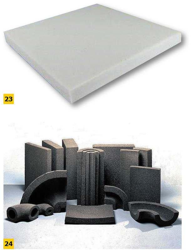 FOT. 23–24. Przykładowy asortyment szkła piankowego; fot.: materiały producentów