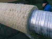 Fot. 2. Instalacja wysokotemperaturowa zaizolowana matą z wełny mineralnej typu WIRED MAT (zbrojoną siatką metalową)
