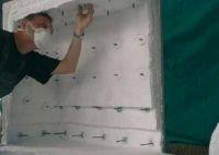 Fot. 5. Przykład wyłożenia ściany pieca matami z włókien glinokrzemianowych