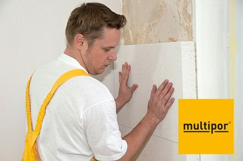 Mineralne płyty izolacyjne Multipor  Multipor to mineralne płyty izolacyjne wykonane z bardzo lekkiej odmiany betonu komórkowego. Ich gęstość wynosi do 115 kg/m3, przez co charakteryzują się wysoką izolacyjnością termiczną zachowując wszystkie najważni.