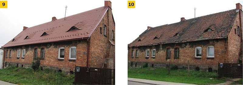FOT. 9–10. Przykład modernizacji dachu polegającej na wymianie pokrycia dachowego oraz wymianie więźby dachowej z równoczesnym dociepleniem dachu