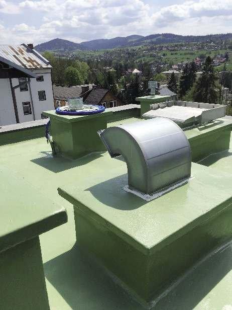 FOT. 6. Konstrukcja betonowa dachu pokryta powłoką polimocznikową; fot.: archiwum autora (K. Knop)