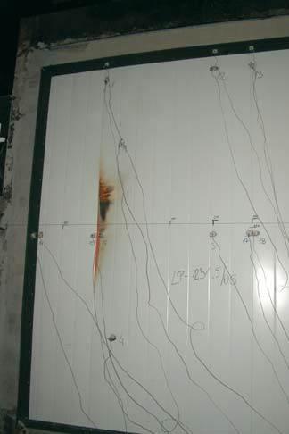 Fot. 1. Element próbny podczas badania – widok od strony nienagrzewanej
