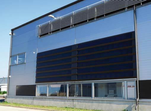 Fot. 8. Przykład zastosowania płyt warstwowych zintegrowanych z systemem solarnym