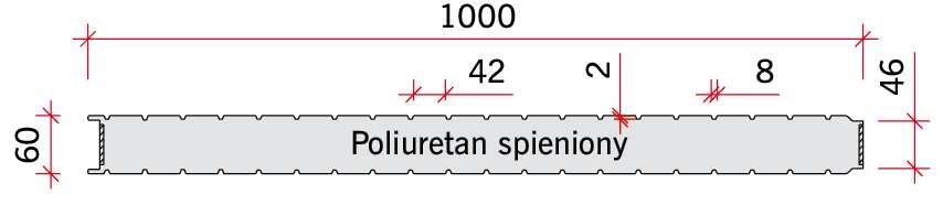 RYS. 10 Panele warstwowe zastosowane w badaniach połączeń z płytą 60.
