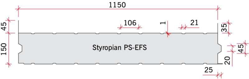 RYS. 13. Panele warstwowe zastosowane w badaniach połączeń z płytą 150.