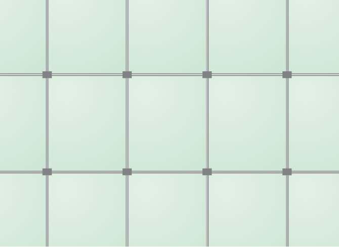 RYS. 9. Ściana membranowa: widok ściany membranowej od strony konstrukcji.