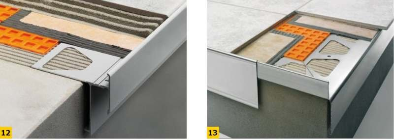 FOT. 12–13. Współczesne rozwiązania systemowe profili okapowych – Schlueter; fot.: www.profilpas.com