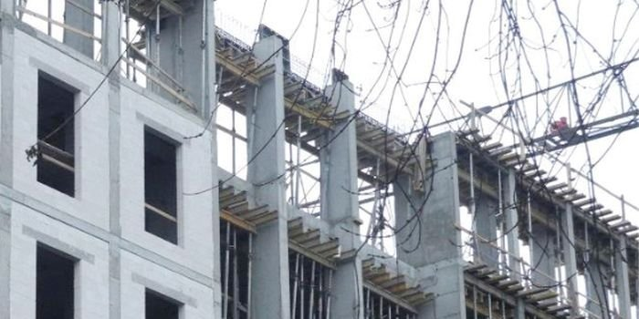 Wizualizacja budynku z celowo wykonstruowanymi pasami międzykondygnacyjnymi; fot. P. Sulik